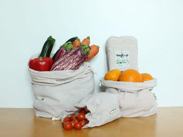 Bolsas reutilizables de algodón